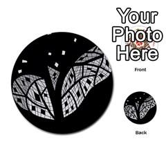 Black and white tree Multi-purpose Cards (Round)