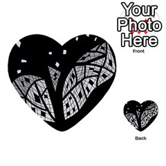 Black and white tree Multi-purpose Cards (Heart)
