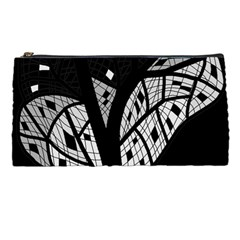 Black and white tree Pencil Cases