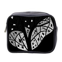 Black and white tree Mini Toiletries Bag 2-Side