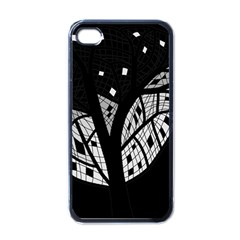 Black and white tree Apple iPhone 4 Case (Black)