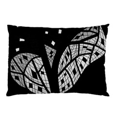 Black and white tree Pillow Case (Two Sides)