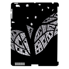 Black and white tree Apple iPad 3/4 Hardshell Case (Compatible with Smart Cover)