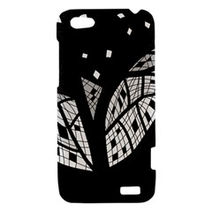 Black and white tree HTC One V Hardshell Case