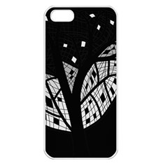 Black and white tree Apple iPhone 5 Seamless Case (White)