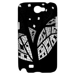 Black and white tree Samsung Galaxy Note 2 Hardshell Case