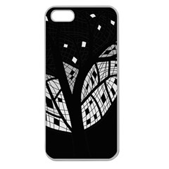 Black and white tree Apple Seamless iPhone 5 Case (Clear)