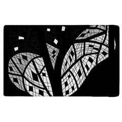 Black and white tree Apple iPad 3/4 Flip Case