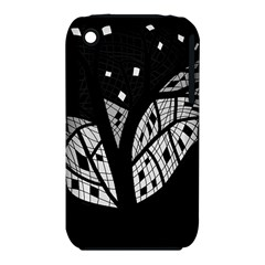 Black and white tree Apple iPhone 3G/3GS Hardshell Case (PC+Silicone)
