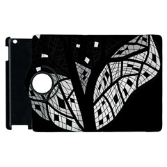 Black and white tree Apple iPad 3/4 Flip 360 Case