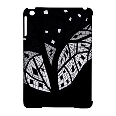 Black and white tree Apple iPad Mini Hardshell Case (Compatible with Smart Cover)