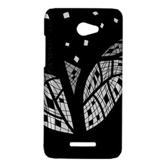 Black and white tree HTC Butterfly X920E Hardshell Case