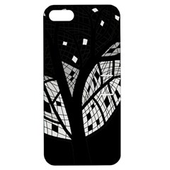 Black and white tree Apple iPhone 5 Hardshell Case with Stand
