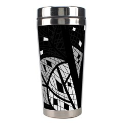 Black and white tree Stainless Steel Travel Tumblers