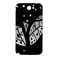 Black and white tree Samsung Note 2 N7100 Hardshell Back Case