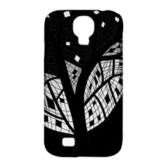 Black and white tree Samsung Galaxy S4 Classic Hardshell Case (PC+Silicone)