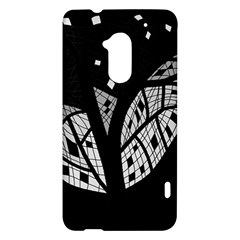 Black and white tree HTC One Max (T6) Hardshell Case