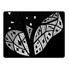 Black and white tree Double Sided Fleece Blanket (Small)