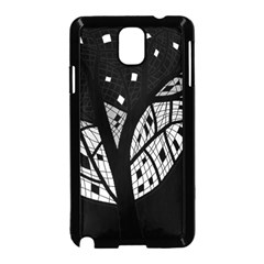 Black and white tree Samsung Galaxy Note 3 Neo Hardshell Case (Black)