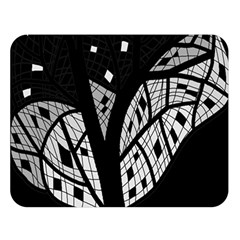 Black and white tree Double Sided Flano Blanket (Large)