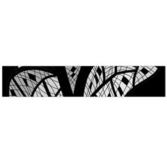 Black and white tree Flano Scarf (Large)