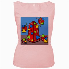 Crazy building Women s Pink Tank Top