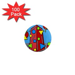 Crazy building 1  Mini Magnets (100 pack)