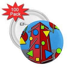 Crazy building 2.25  Buttons (100 pack)
