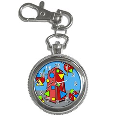 Crazy building Key Chain Watches