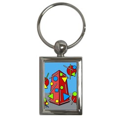 Crazy building Key Chains (Rectangle)