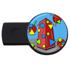 Crazy building USB Flash Drive Round (1 GB)