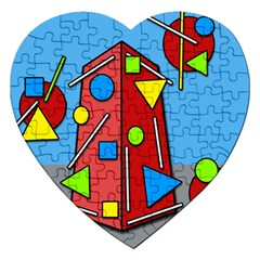 Crazy building Jigsaw Puzzle (Heart)