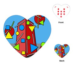 Crazy building Playing Cards (Heart)
