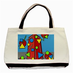 Crazy building Basic Tote Bag (Two Sides)