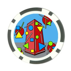 Crazy building Poker Chip Card Guards