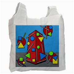 Crazy building Recycle Bag (One Side)