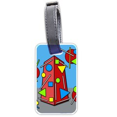 Crazy building Luggage Tags (One Side)