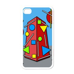 Crazy building Apple iPhone 4 Case (White)