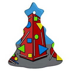 Crazy building Christmas Tree Ornament (2 Sides)