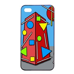 Crazy building Apple iPhone 4/4s Seamless Case (Black)