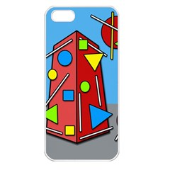 Crazy building Apple iPhone 5 Seamless Case (White)