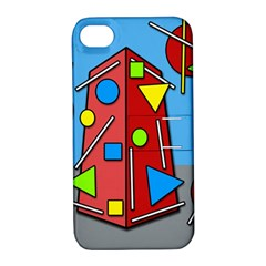 Crazy building Apple iPhone 4/4S Hardshell Case with Stand