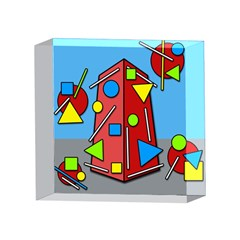Crazy building 4 x 4  Acrylic Photo Blocks