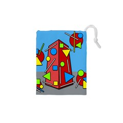 Crazy building Drawstring Pouches (XS)