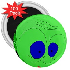 Alien by Moma 3  Magnets (100 pack)