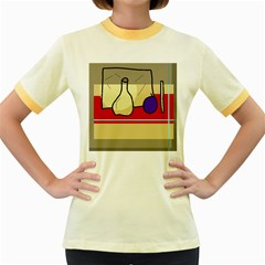 Decorative art Women s Fitted Ringer T-Shirts