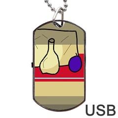 Decorative art Dog Tag USB Flash (One Side)