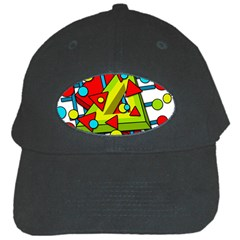 Crazy geometric art Black Cap