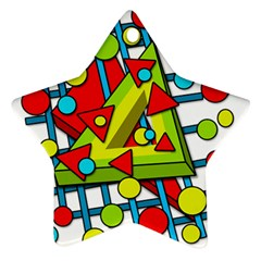 Crazy geometric art Ornament (Star)