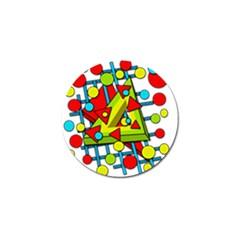 Crazy geometric art Golf Ball Marker (4 pack)
